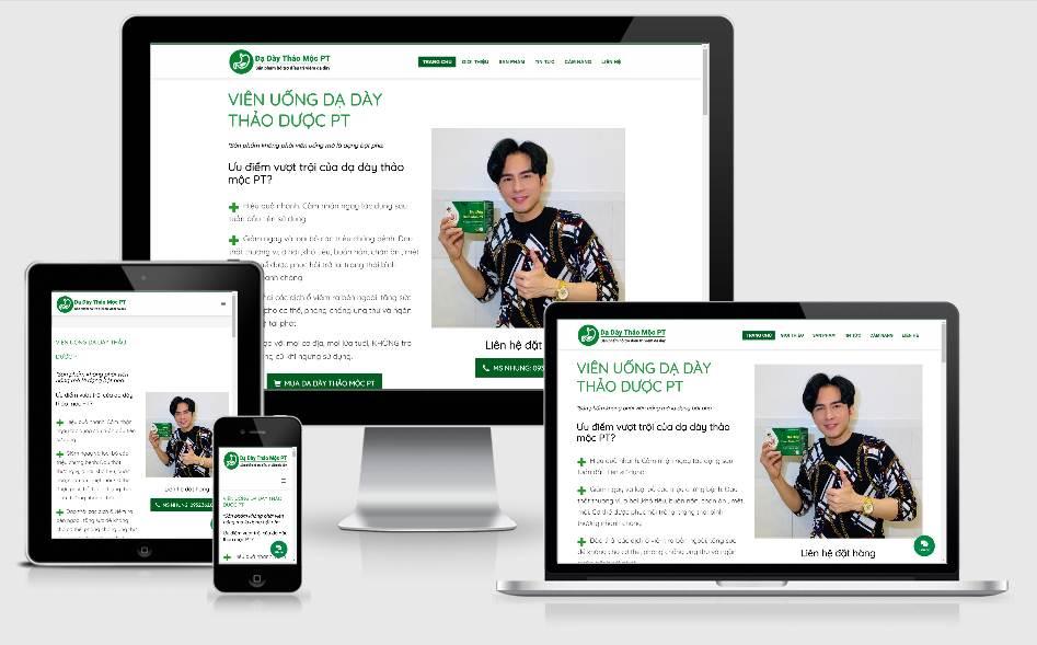 Dạ dày thảo mộc PT – website giới thiệu sản phẩm