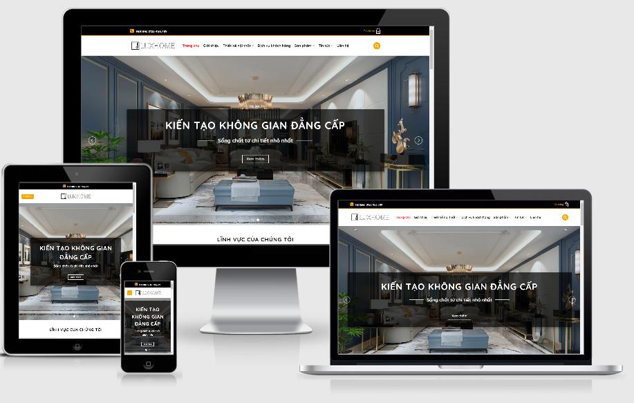 Luxhome – website thiết kế thi công nội thất