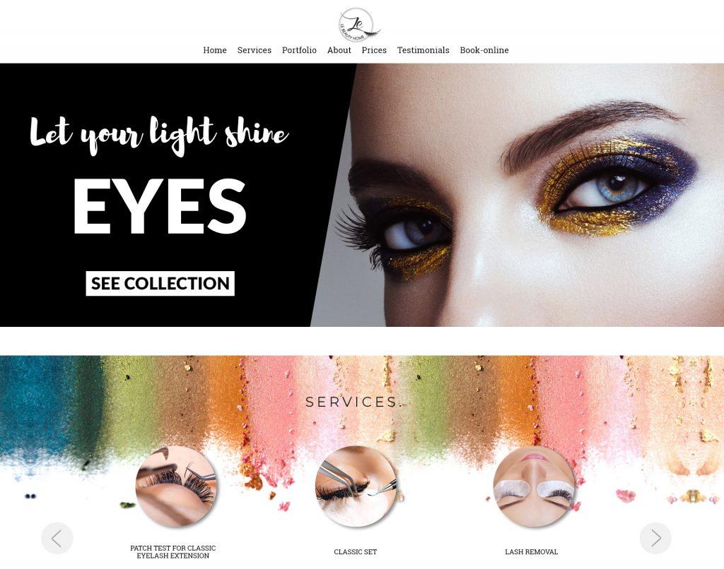 LeBeautyhome – Website dịch vụ làm đẹp