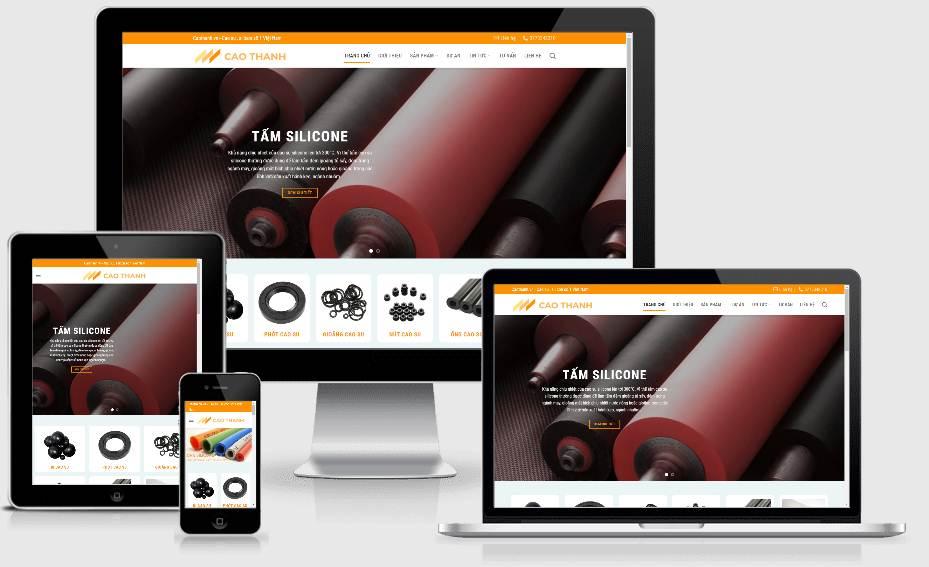 Caothanh.vn – website sản phẩm cao su tấm silicon