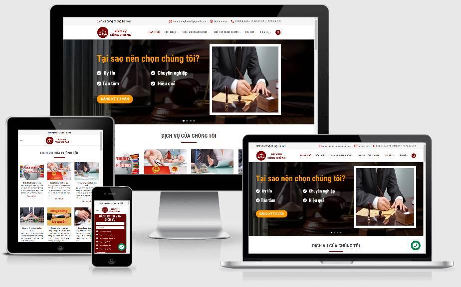 Thiết kế website công chứng Hà Nội
