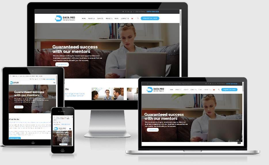 Datapro –  Dự án website giới thiệu dịch vụ phân tích dữ liệu